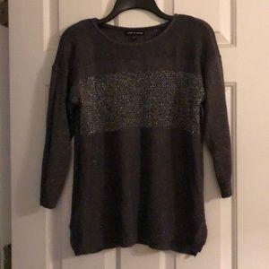 Cable & Gauge Sparkle Grey Sweater